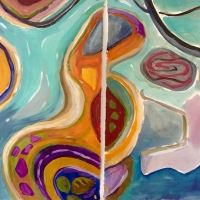 River Pool Diptych